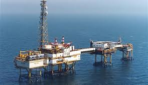 deep offshore oil rig