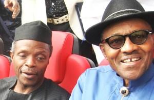 president and vice president elect...Gen. Buhari and Prof. Osinbajo