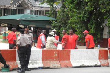 Striking Oil workers in Nigeria block NNPC entrance, disrupt activities