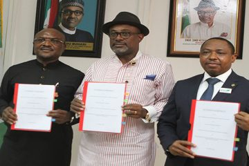 NCDMB, NNPC, Brass Fertilizer sign Shareholders Agreements on Methanol Project